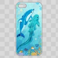 イルカ×サメ【海中ver】*スマホケース