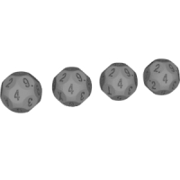 22面ダイス(11面機能:0~10:12進法表記)