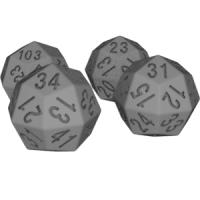 凧形二十四面体ダイス(8進・6進・5進・4進表記)