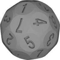 42面ダイス(7面機能:1~7)