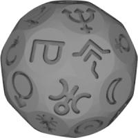 42面ダイス(10大天体+4小惑星)