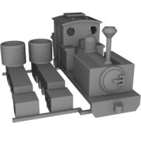 Nナロー(6.5mm) 芦別林鉄バグナルタイプ機関車