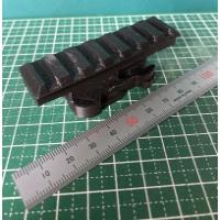 アクションカムのベースマウントに取り付ける用の20mm ピカティニー レール.stl