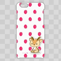 ボク鹿*strawberry iPhone6用ケース(White+クリア)