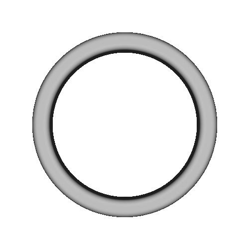 リング シンプル (7号相当, 厚め)