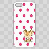 ボク鹿*strawberry iPhone 5/5S用ケース(White+クリア)