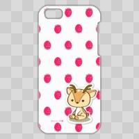 ボク鹿*strawberry iPhone 5C用ケース(White+クリア)