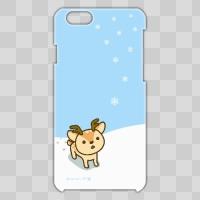 ボク鹿*winter iPhone6用ケース(Light Blue+クリア)