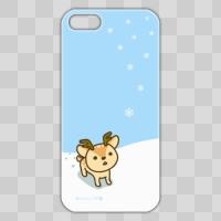 ボク鹿*winter iPhone5/5S用ケース(Light Blue+クリア)