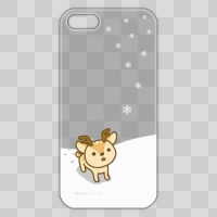 ボク鹿*winter iPhone5/5S用ケース(クリア)