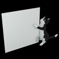 猫型メモホルダー(カラー)