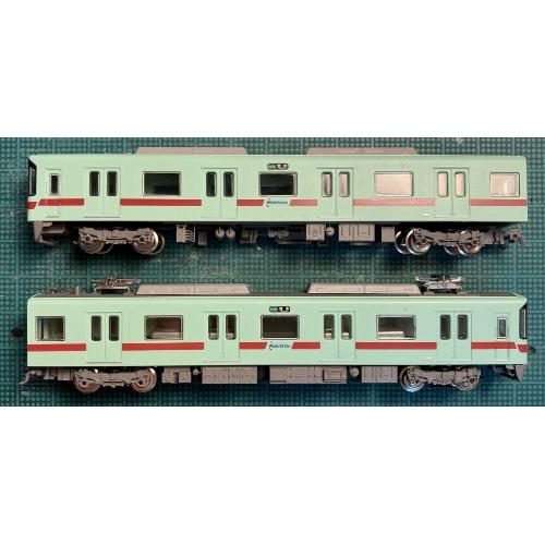 【Nゲージ 鉄道模型】RMP001-B アイスグリーンのワンマン電車 床下機器パーツ(3編成分)