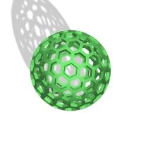 ハニカム構造の球体