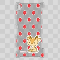 ボク鹿*strawberry Xperia Z2用ケース(クリア)