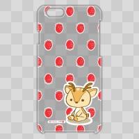 ボク鹿*strawberry iPhone6用ケース(クリア)