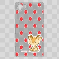 ボク鹿*strawberry Xperia Z1用ケース(クリア)