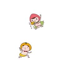 [スマホケース]みかん王子といちご姫