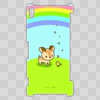ボク鹿*rainbow Xperia Z2用ケース(クリア)