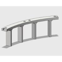 Nゲージ 単線高架橋 曲線(半径280mm/45度)