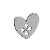 heart&cloverシルバー3cm