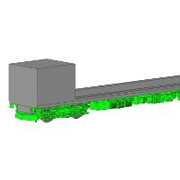 【D005・D006】モニ20用台車・床下機器2両分セット
