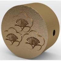 家紋の数珠ブレスレットパーツ(三つ盛り匂い梅)