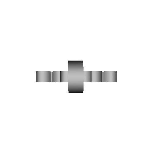 穴あきハートクロス・ペンダントヘッド厚さ3mm