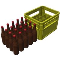1/24スケールの大びんビール(633ml)20本セット(ケース付き)