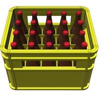 1/12サイズのビール瓶20本とビールケースのセットです。