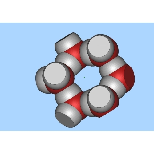 氷の結晶模型(6分子)