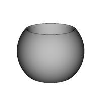 シンプルな器  大きさ:直径120×高さ83  凹部:直径80×深さ73mm