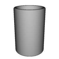 シンプルな器  大きさ:直径80×高さ120  凹部:直径66×深さ117mm