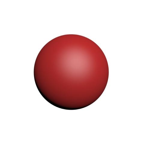 直径20mmの球 赤色
