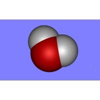 水の分子模型(1億倍)
