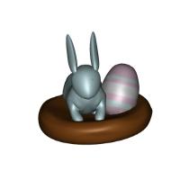 イースターなウサギとタマゴ