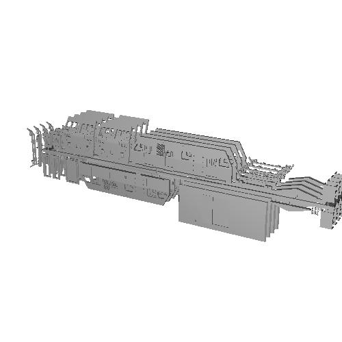 【4両セット】低屋根タイプ保線用確認車両