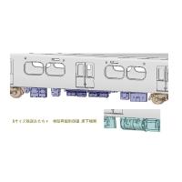 Nサイズ鉄道おもちゃ 他励界磁制御車 床下機器 - A (2連MGタイプ)
