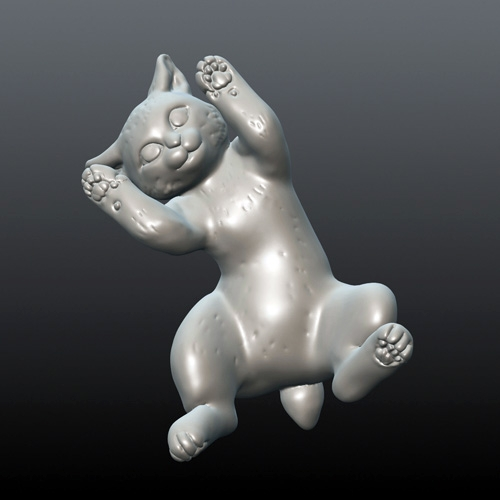 ヤマネコ(仔猫)フィギュア