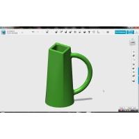 5分で学ぶ3D初級講座・ダイヤ型ミルクカップ製作その2(123D Design_20)