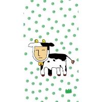 人アニマル 牛さん(Galaxy S4 専用ケース)