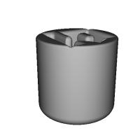 「石」のマグカップ(123D Design)