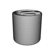 「の」マグカップ(123D Design) ミニサイズ