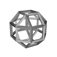斜方立方八面体-レオナルドスタイル(Rhombicuboctahedron-Leonardo)