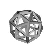 変形立方体-レオナルドスタイル(Snub_cube-LeonardoStyle)
