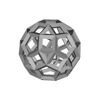 斜方二十・十二面体-レオナルドスタイル(Rhombicosidodecahedron)