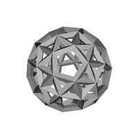 変形十二面体-レオナルドスタイル(Snub_dodecahedron-Leonardo)