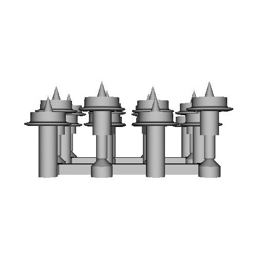 鉄道模型1/87 9mm用 3.8mm車輪-B