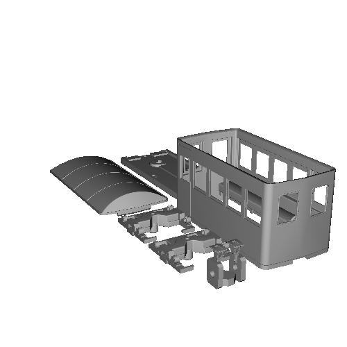 鉄道模型1/87 9mm用 森林鉄道の客車