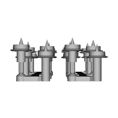 鉄道模型1/87 9mm用 3.8mm車輪-A