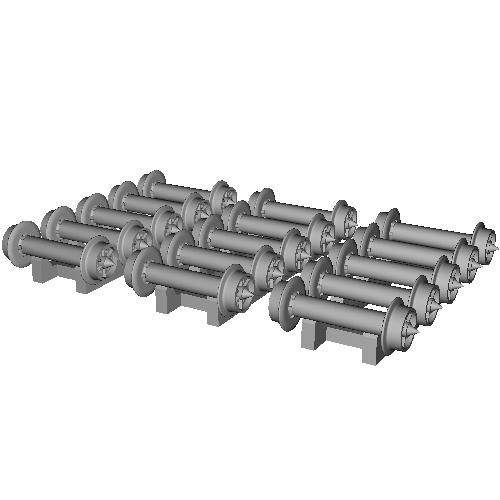 鉄道模型1/87 9mm用 3.4mm車輪-C